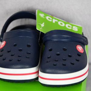 Crocs Kids Clogs Size 10 C10 Navy & Red  NEW